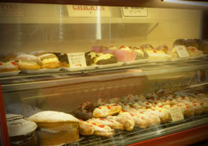 delicious range of cakes and slices